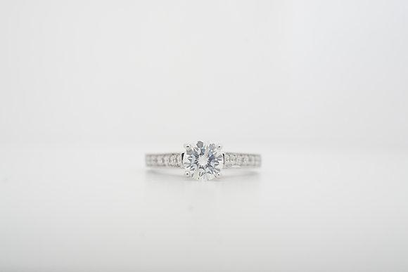 18k .97ctw Vanna K Vintage-Inspired Diamond Ring