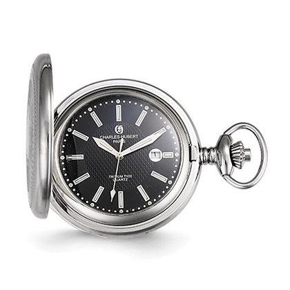 Charles Hubert Paris Steel & Black Pocket Watch