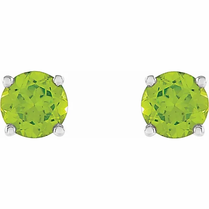 14k 4mm Peridot Stud Earrings