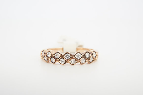 14k 1/4ctw double scalloped band