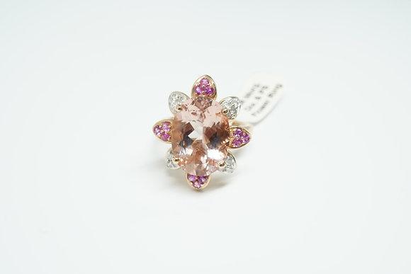 14R Floral Morganite Ring