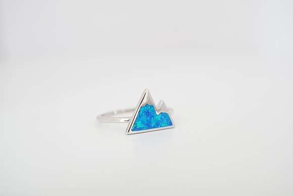 Sterling Silver Double Mountain Peak Ring