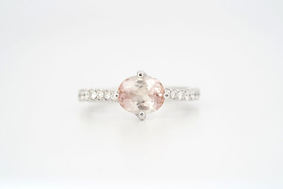 14k 1.5ct Pastel Pink Tourmaline Ring