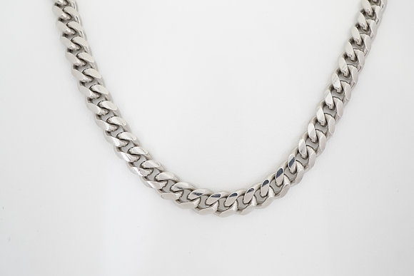 """Sterling Silver 26"""" 8.3mm Cuban Link Chain"""