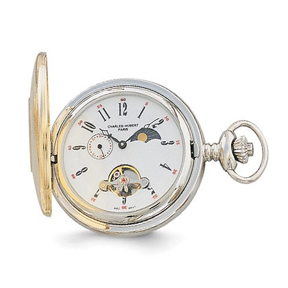 Charles Hubert Paris Two-Tone Pocket Watch