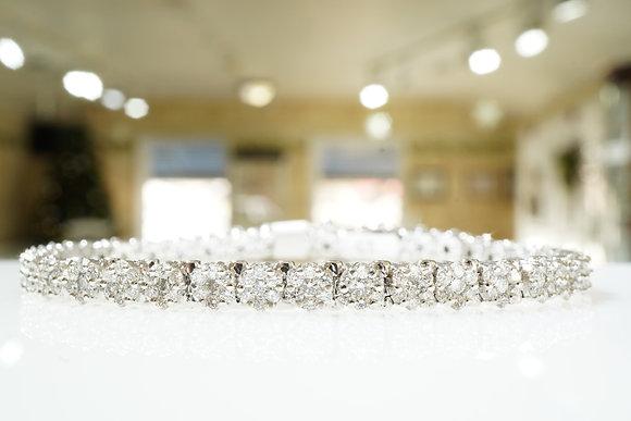 14k 4.47ctw Cluster Diamond Bracelet