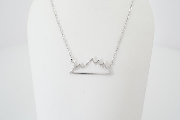 Sterling Silver Stationary Mountain Necklace