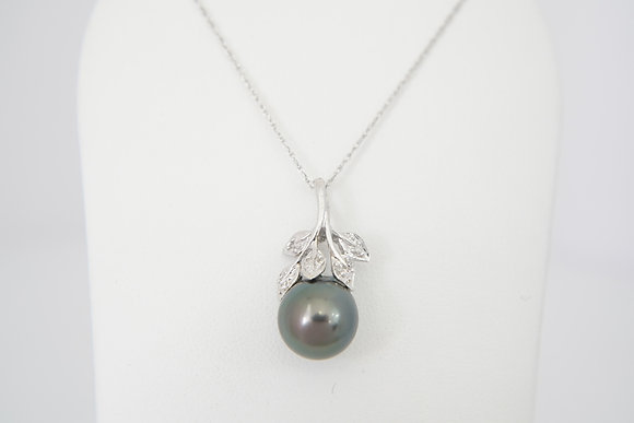 14k Tahitian Pearl Nature-Inspired Necklace