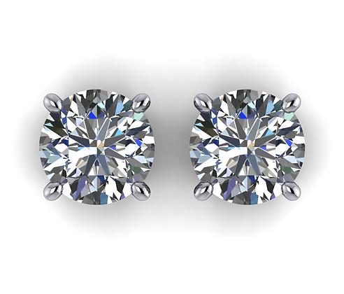 14k Diamond Studs