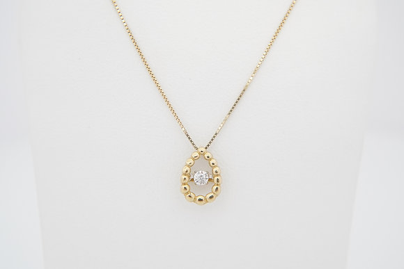 10k Petite Dancing Diamond Necklace