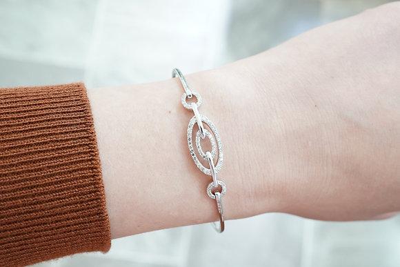 10k 1/2ctw Diamond Circle Bracelet