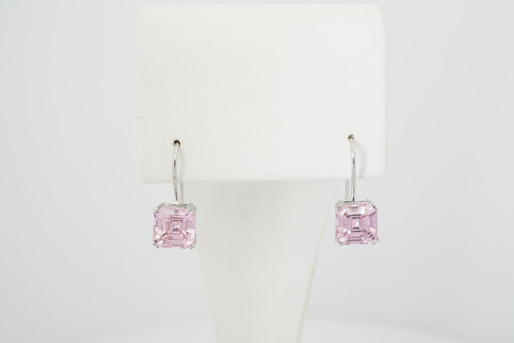 Sterling Silver Pink French-Hook Earrings