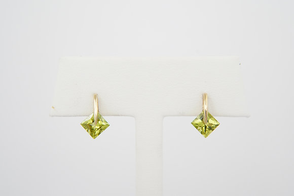 10k Peridot Tension Earrings