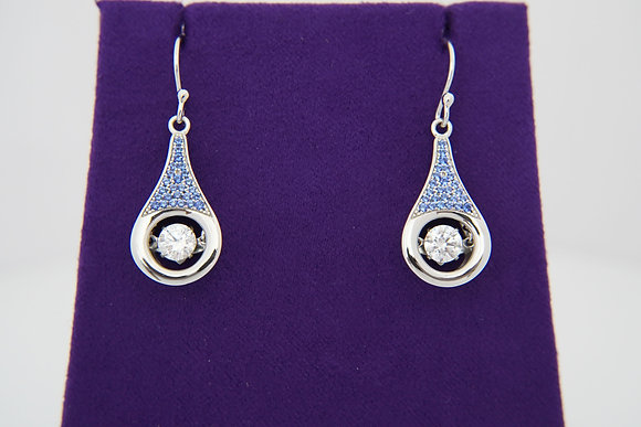 Twinkles Blue Pavé Teardrop Earrings