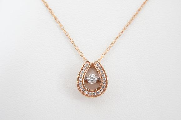 14k Rose 1/4ctw Dancing Diamond Necklace