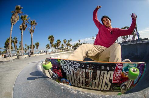 Skater: Justin Kalani Burbage Location:Venice Skatepark