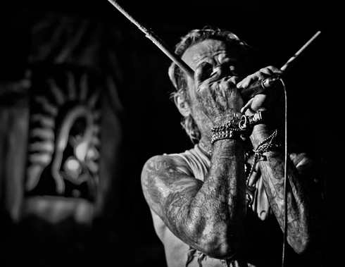Duane Peters on Harmonica...Long Beach Ca. 2015