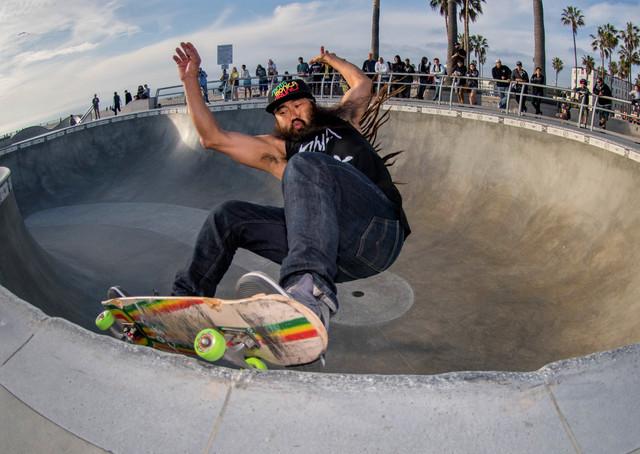 OG Bennett Harada..Santa Monica Skates.. Location:Venice Skatepark
