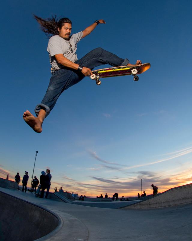 Ben the Barefoot Bastard... Venice Skatepark