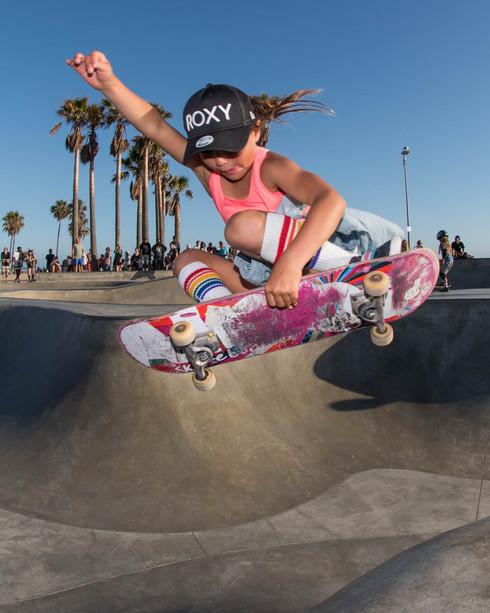 Skater: Sky...9 year old. Location:Venice Skatepark