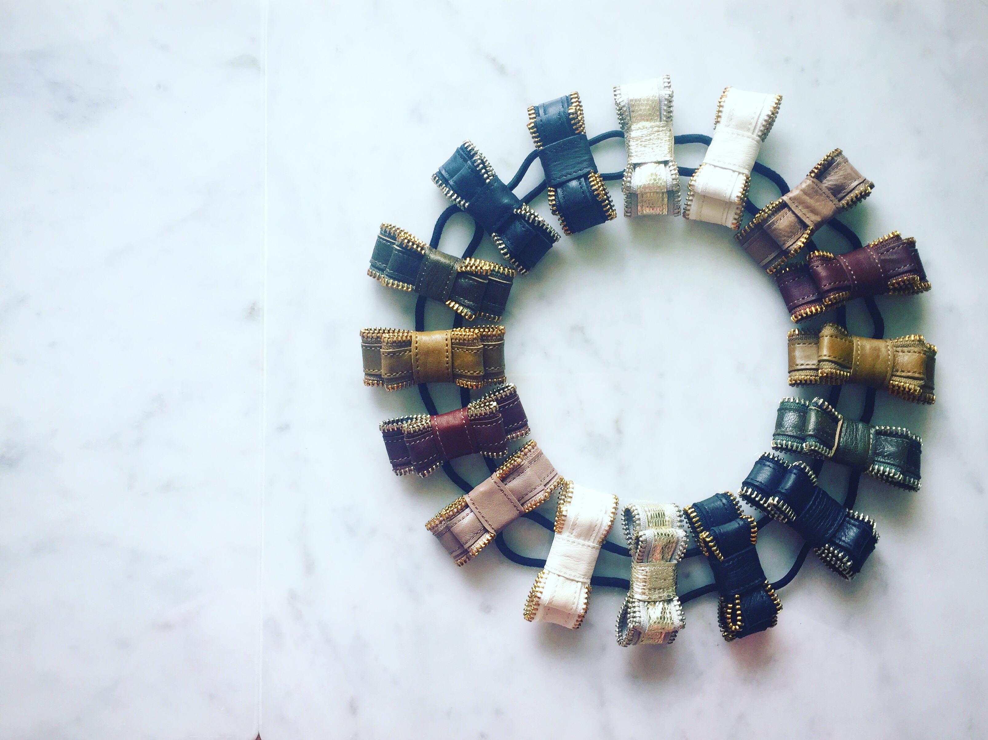 zip ribbon hair accessory