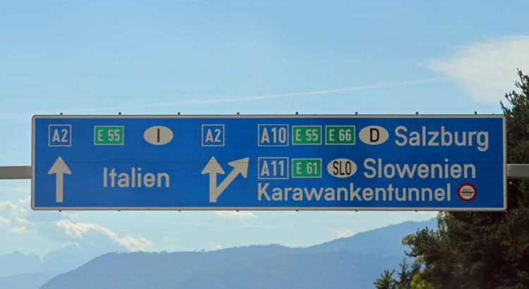 Die Reise durch Österreich nach Italien ist möglich