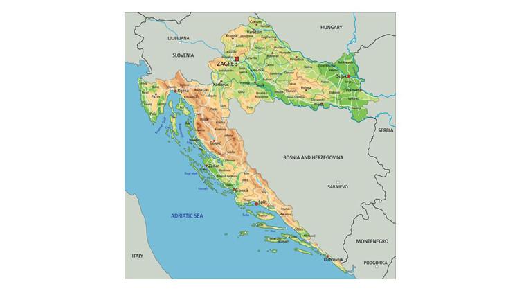 Landkarte Kroatien Inseln