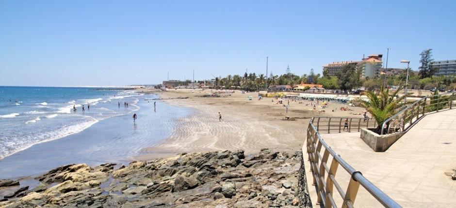 Direkt nebenan von Playa del Inglès und weniger überlaufen ist dieser Gran Canaria Strand in San Agustin