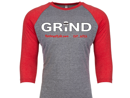 GRIND BEAST BASEBALL T-SHIRT