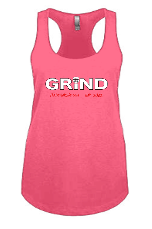 GRIND BEAST WOMEN'S PINK TANK