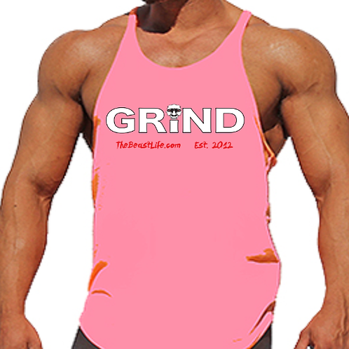 GRIND BEAST PINK MEN'S TANK