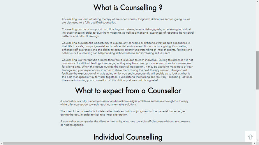 Counselling Here and Now Website What is