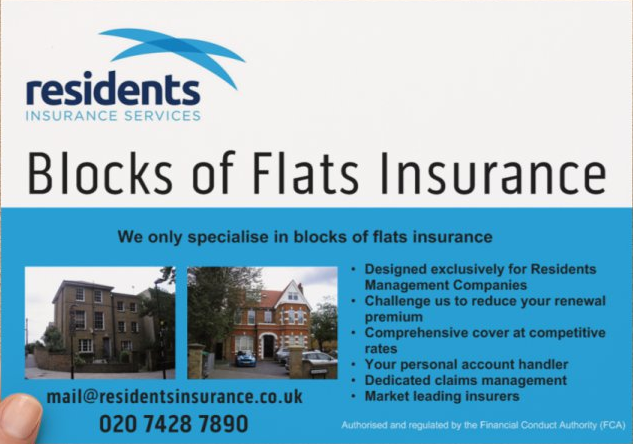 Residents Insurance Services Flyer front