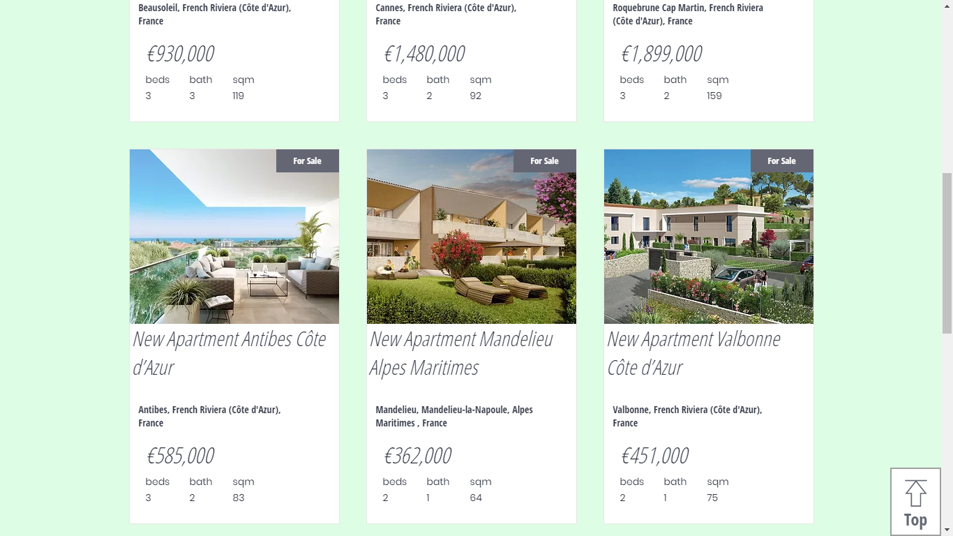 AZ Italian Properties Website France