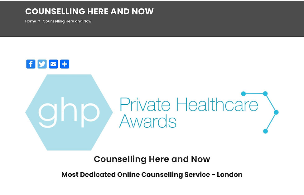 Counselling Here and Now Award GHP - Mos