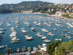Lerici Harbour from the Castle.JPG