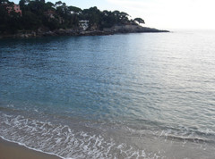 Fiascherino beach two near Tellaro Ligur
