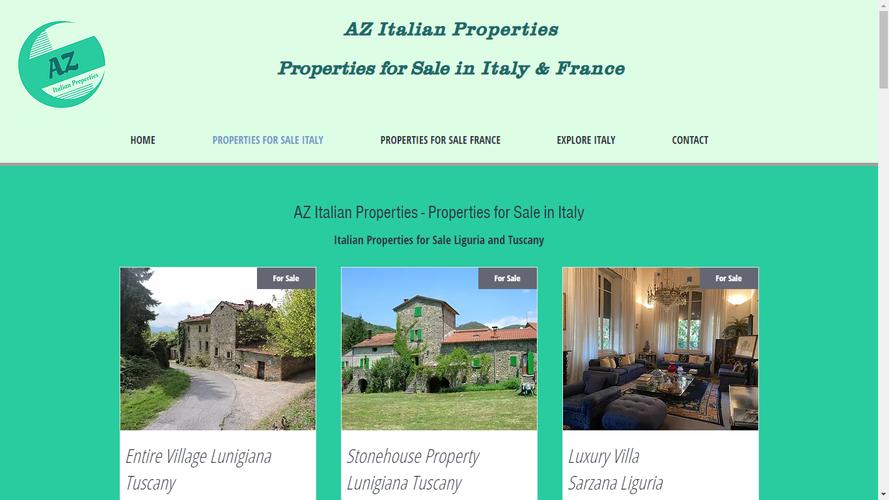 AZ Italian Properties Website For Sale Italy