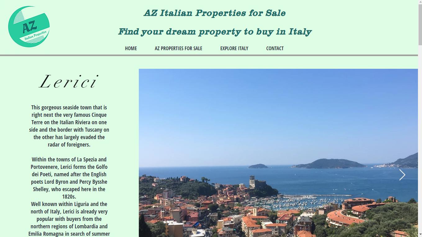 AZ Italian Properties Website Liguria.pn