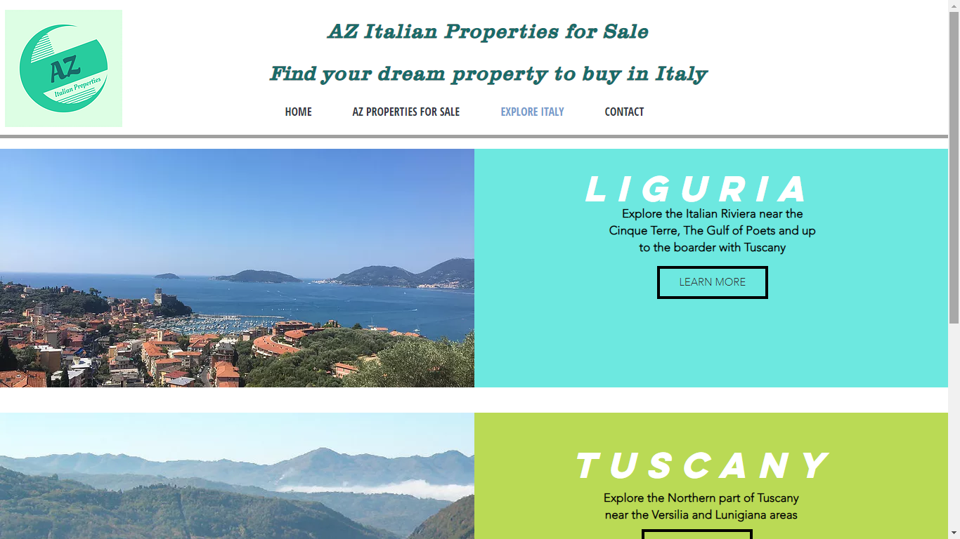 AZ Italian Properties Website Explore Italy