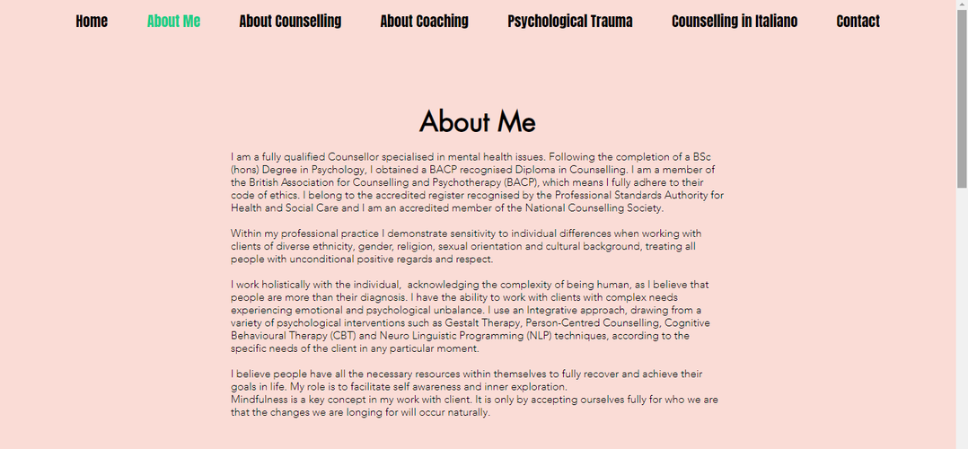 Counselling Here and Now Website About m