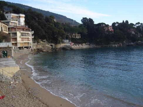 Fiascherino beach one near Tellaro Ligur