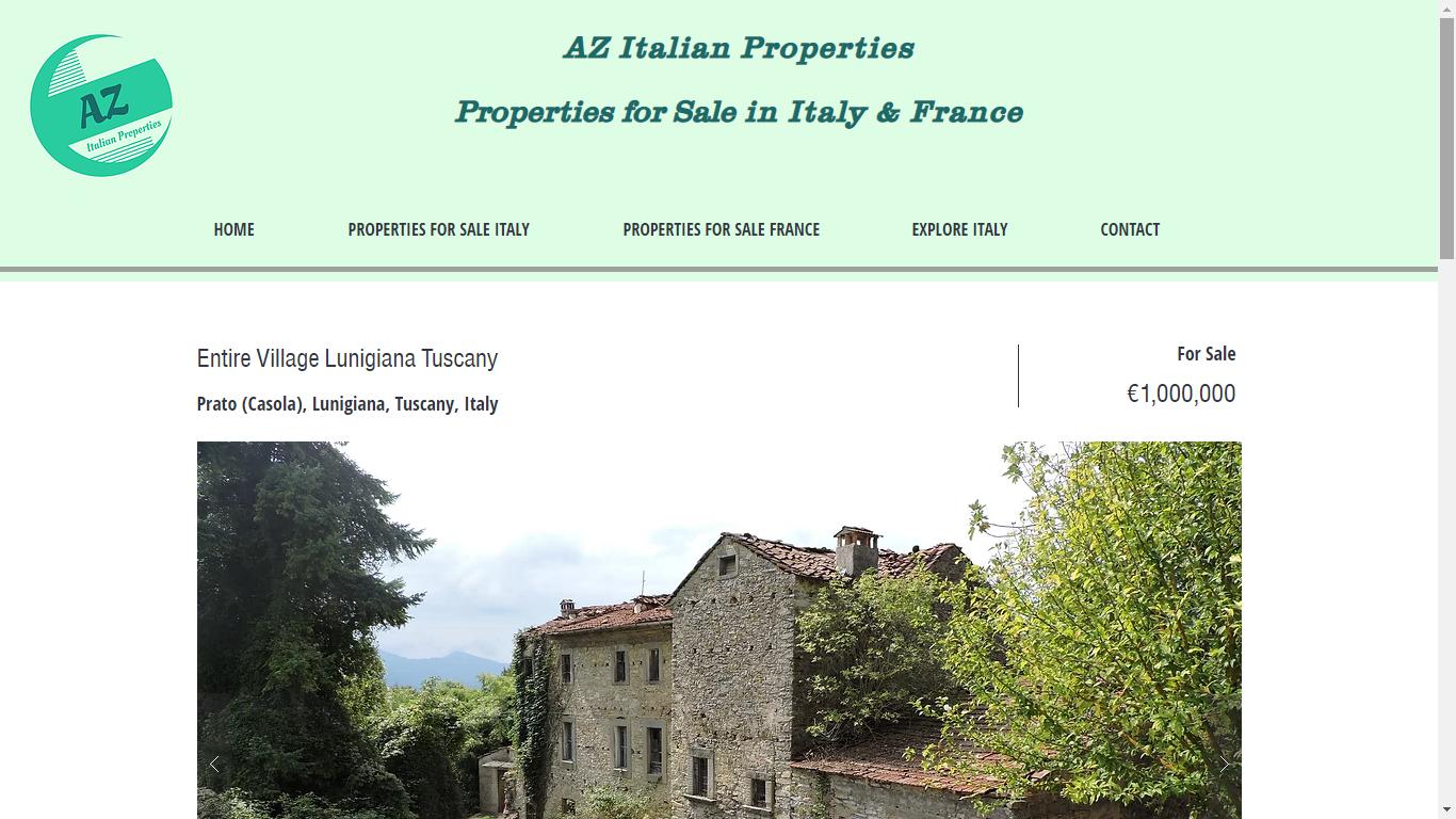 AZ Italian Properties Website