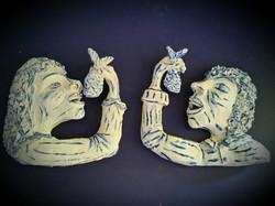 2 Haringeters wandsculptuur- 2015