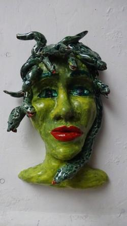 Vrouw met  slangenhaar 2018