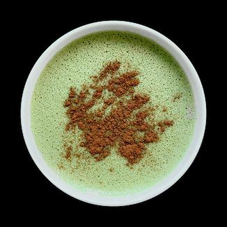Vegan Dirty Matcha Latte