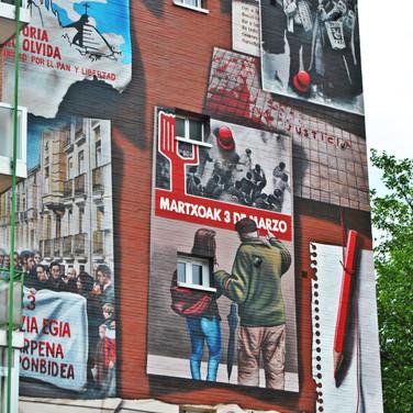 Mural 'No hay presente ni futuro sin memoria'