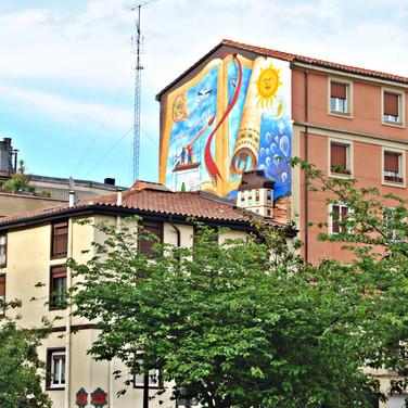 Mural 'Érase una vez el voluntariado'