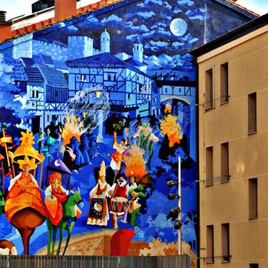 Mural 'La noche más corta'