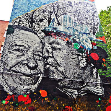 Mural 'En la cresta de la arruga'